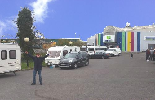 Travellers parking on private land