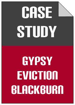 Gypsy Eviction Blackburn case study