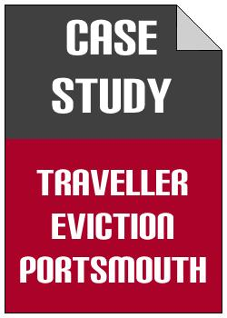 Traveller Eviction Portsmouth case study